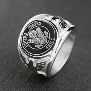United States Army stainless steel ring size 11